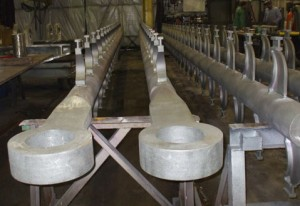 Fabricated Pipe Hangers Made from HK40 Alloy